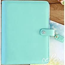 """Color Crush A5 Faux Leather 6-Ring Planner Binder 7.5""""X10""""-Mint"""