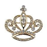 CHUYUN Fashion Elegant Women Crown Shape Princess Brooch Dress Sweater Coat Pin (gold)