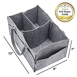 The Good Baby Diaper Caddy - Nursery Storage Bin and Car Organizer for Diapers and Baby Wipes