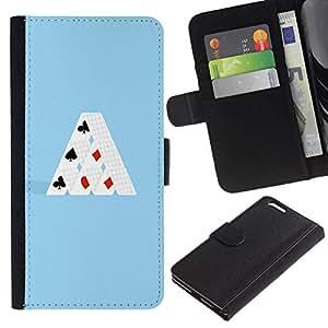 All Phone Most Case / Oferta Especial Cáscara Funda de cuero Monedero Cubierta de proteccion Caso / Wallet Case for Apple Iphone 6 PLUS 5.5 // MINIMALIST CARD HOUSE