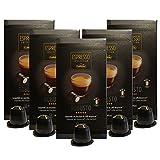 Caffitaly Nespresso Compatible Capsules, Robusto Espresso, Extra Bold, 50 Ct