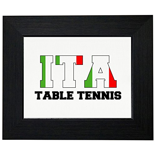 Italy Table Tennis - Olympic Games - Rio - Flag Framed Print Poster Wall or Desk Mount Options by Royal Prints