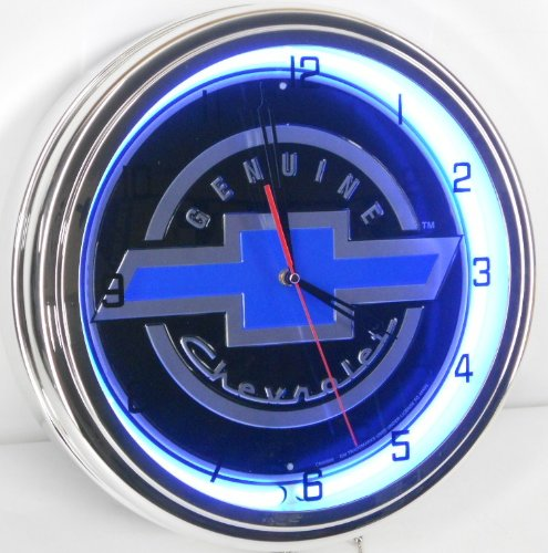 genuine-chevy-15-neon-lighted-wall-clock-sign-blue-black