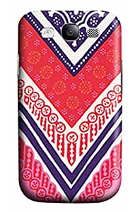 CaseandHome Vintage Pink Floral Chevron Design PC Material Hard Case For Samsung Galaxy S3 I9300