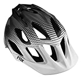 Fox Head Flux Race Helmet, White/Black, Small/Medium