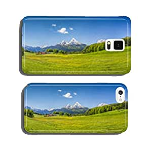 Idyllic summer landscape in the Alps cell phone cover case Samsung S6