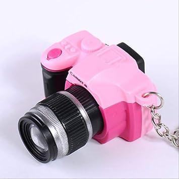 MEIHEK Llavero Nueva cámara de Moda Linda llevó llaveros con ...