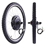 "LAZYMOON 26"" Rear Wheel 48V 1000W Electric Powered Bicycle Motor Cycling Conversion Kit"