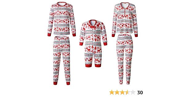 Pijamas Navidad Familia Conjunto Pantalon y Top Fiesta Manga ...