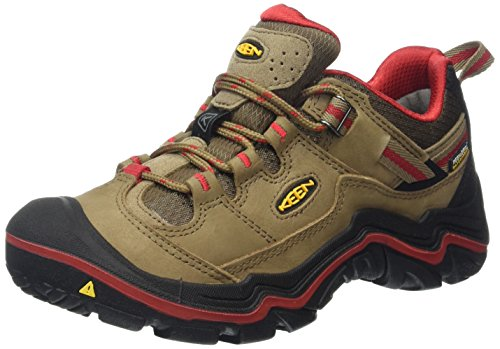 Keen Durand Wp - Zapatos de Low Rise Senderismo Mujer Marrón (Shitake/Racing Red)