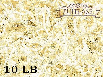 Natural File Basket - 10 lb Crinkle Cut Paper Shreds Eco-Spring Fill, Filler for Packing Gift Baskets and Boxes~Box of 10 LB ~ Vanilla - Good Value Natural Paper Shred Filler