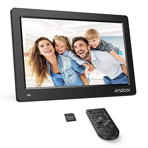 Andoer 11.6 Inch Digital Photo Picture Frame 1920X1080 IPS Screen Support Calendar/Clock/MP3/Photos/1080P Video Player with Remote Control 8GB Memory Card (Black) ()