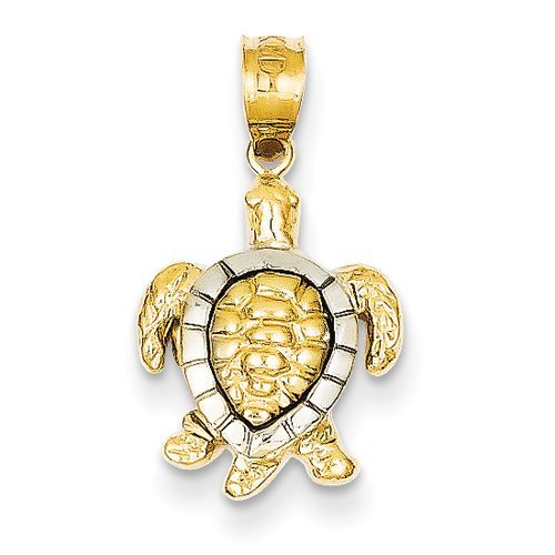 Gold and Watches 14k Yellow & White Gold Turtle Charm by Gold and Watches