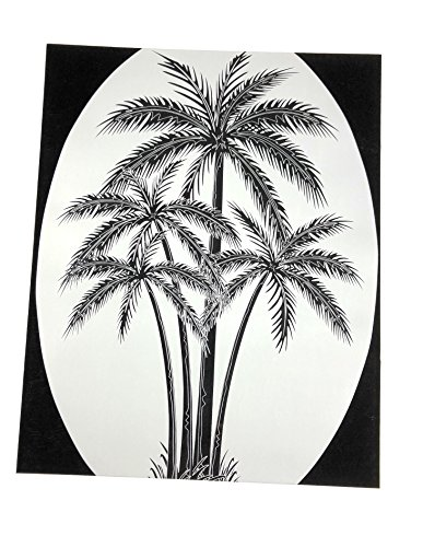 DCentral Palm Tree Removable Window Decal. Look of Etched Glass. 8