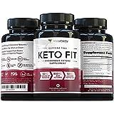 Keto Fit Shark Tank Keto Diet Pills: Vegan Friendly Keto Fat Burner Weight Loss Pills with Exogenous Ketones Beta-Hydroxybutyrate (BHB) Salts and Grains of Paradise, Burn Fat Not Carbs, 60 Veggie Caps