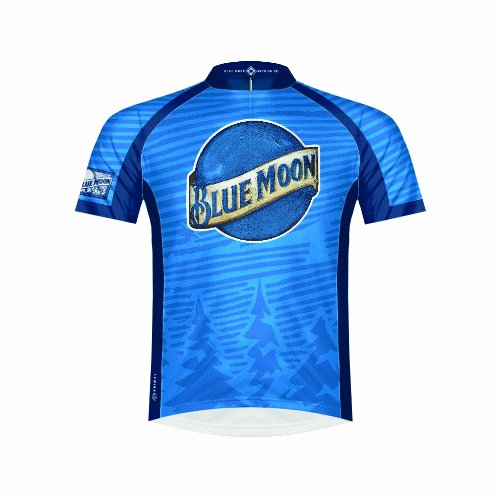 - Primal Wear Men's Coors Moon Cycling Jersey, Blue, Small