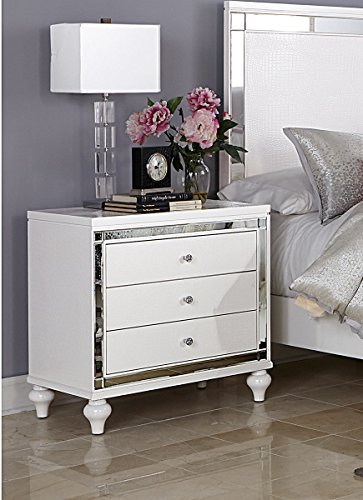White Bedroom Furniture Alonza Nightstand product image