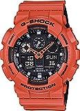 Casio Men's G-Shock GA100L-4A Orange Silicone Quartz Watch