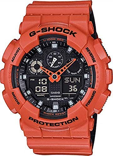 (Casio G-Shock GA-100 Military Series Watches - Orange/One Size)