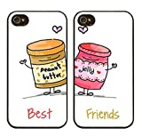 iPhone 7 , Colorful Rubber Flexible Silicone Case Bumper for Apple Clear Cover - Peanut Butter and Jelly Are Best Friends