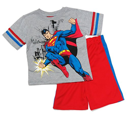 Superman Boys Toddler T-Shirt And Shorts Outfit Set Size 4T