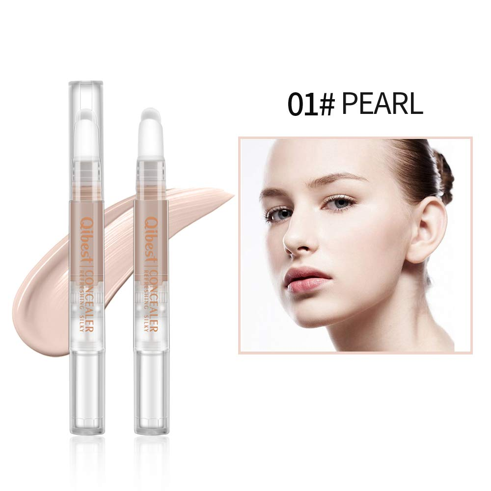 Qibest Liquid Concealer Pencil Imperfections Dark Circles Concealer, Natural Coverage, Oil-free (1)