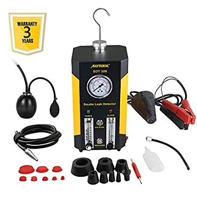 AUTOOL 1 SDT-206 Automotive EVAP Leaks Testing Machine, 12V Vehicle Pipes Fuel Leakage Detector Diagnositc Tester for Car/Motorcycles/Boat (Newest Dual Modes): Automotive