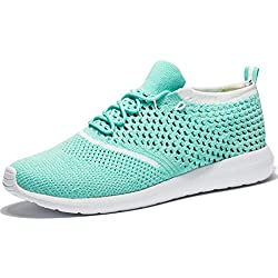 Tianui Women's Athletic Shoes Casual Fashion Mesh Walking Sneakers Breathable Running Shoes
