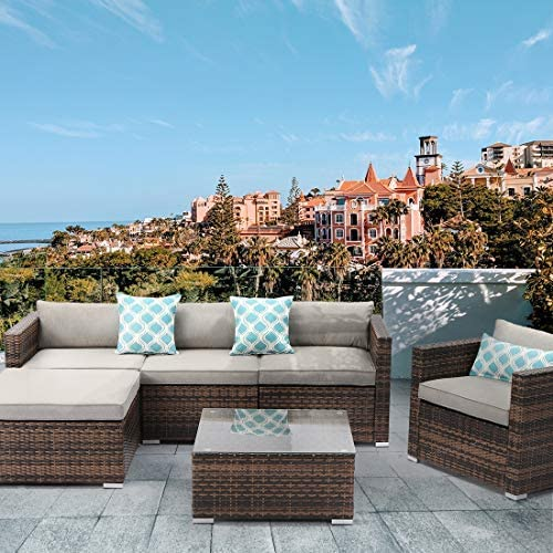 HOMPUS Outdoor Sectional Sofa Set