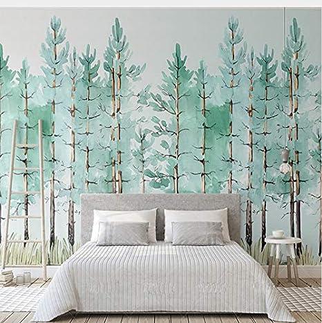 Lifme Benutzerdefinierte Wandbild Moderne Mode Mintgrün Frische Wald ...