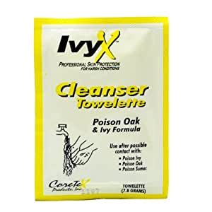 Ivy X 84640 Poison Ivy and Oak Post Contact Skin Towelettes, 25-Count
