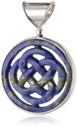 Sterling Silver Lapis Celtic Design Pendant