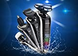 #3: 4 in 1 Professional Electric Shaver Razor For Men ,Wet Dry Cordless Rotary Shaver Nose Hair Trimmer Facial Cleaning Brush Waterproof USB Rechargeable by Dardugo