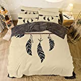 King Size Bed Vs Queen Flannel 4 Piece Cotton Queen Size Bed Sheet Set for Bed Width 6.6ft Winter Holiday Pattern by,Arrow Decor,Arrow in Ethnical Pattern with Feathers Decorative Native Tribal Print,