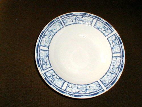 Oneida Breton Blue Rimmed Soup Bowl 8 3/4