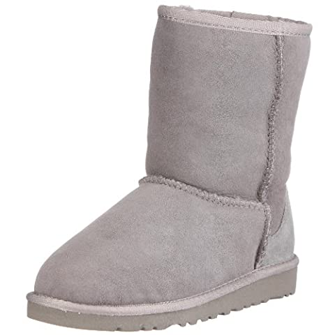 UGG Unisex Classic Short Pull on Boot (Toddler/Little Kid), Grey, 12 M US Little (Classic Short Pelle Di Pecora)