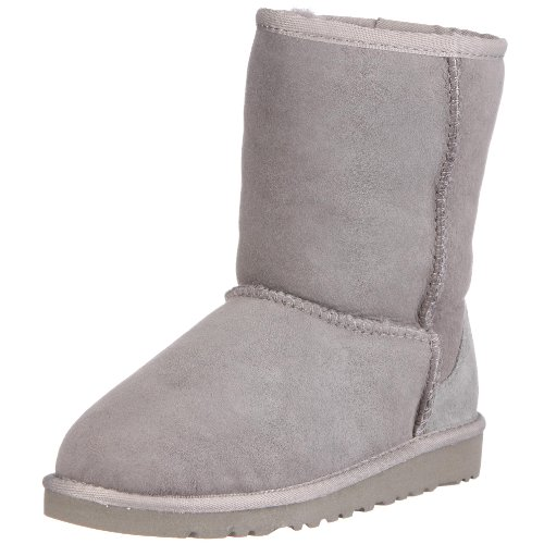 UGG Kids Unisex Classic (Big Kid) Grey 6 Big Kid M by UGG