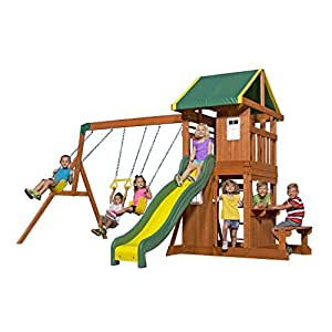 Backyard Discovery 65114 Oakmont All Cedar Playset Swing ...