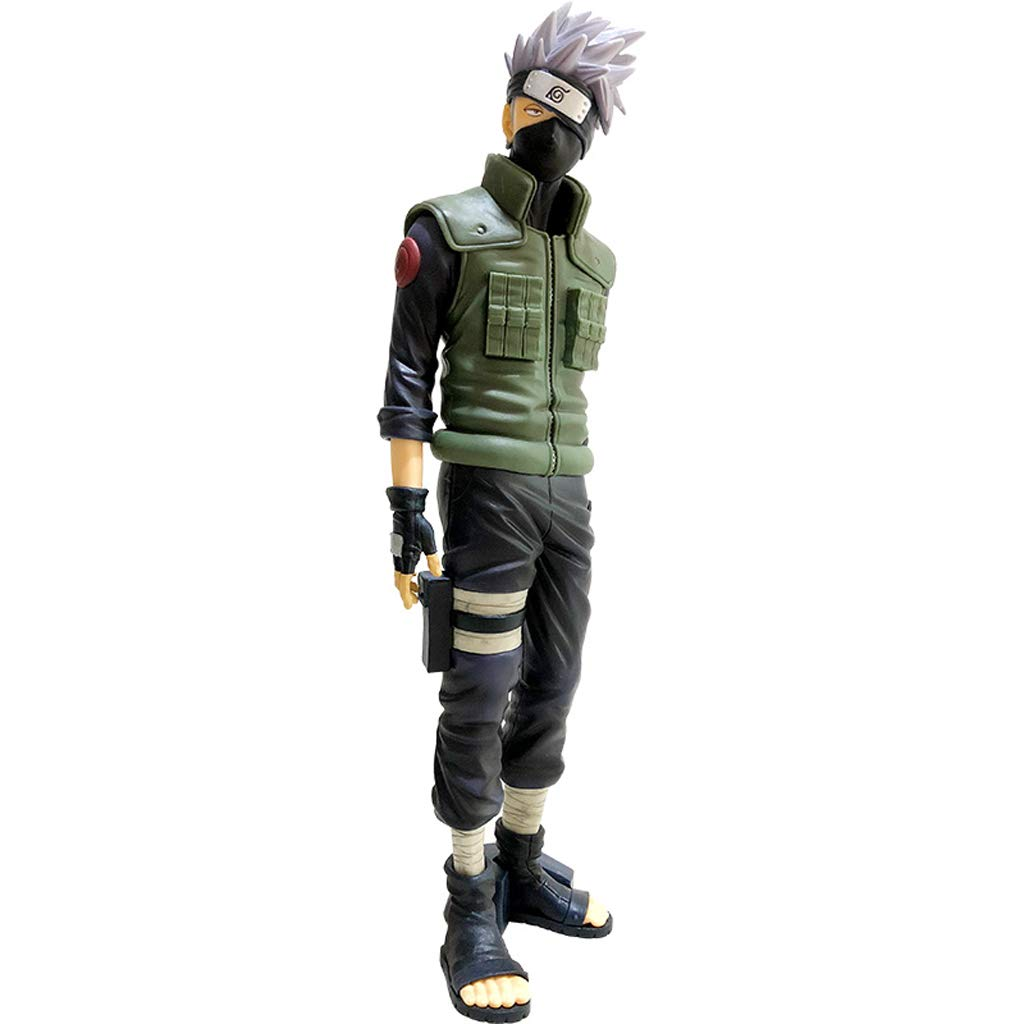 KGMYGS Naruto Naruto Blast Flag Kakashi Modell Realistische Statue Puppe Anime Ornament 28cm