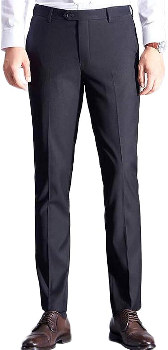 AK Beauty Classic Mens Casual Pants Business Dress Slim Fit Stretch Trousers