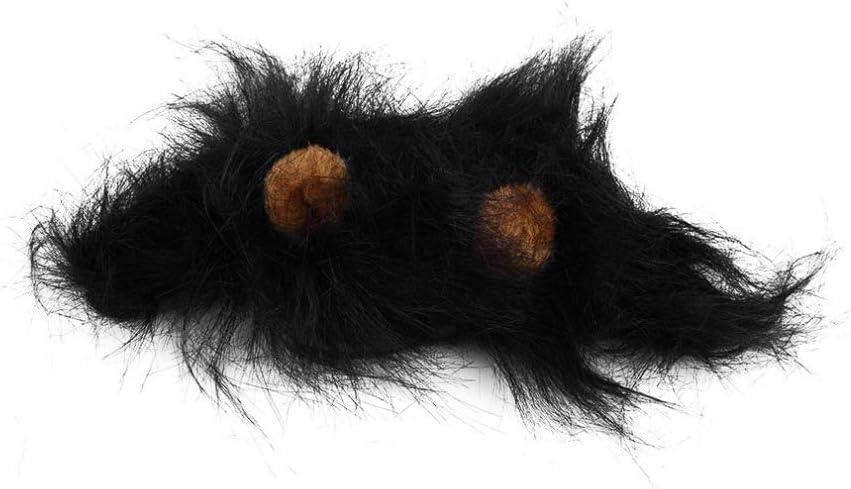 Liumei Peluca de Melena de león para Disfraz de Perro y Gato, Diadema de Pelo de león para Pelucas de Mascotas de Navidad, Pelucas de Gato, Fiesta de Halloween