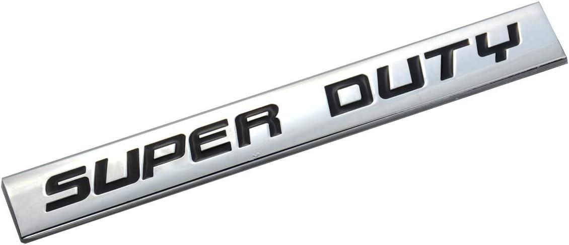 Black 3D SUPER DUTY Metal Emblem Trunk Door Fender Bumper Emblem Badge Car Sticker Decal