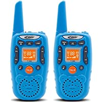 Eoncore Walkie Talkies for Kids Two Ways Radio Toy 1.5 Mile Range 3 Channels 10 call tone Build-in Flashlight Blue