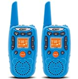 Eoncore T358 Walkie Talkies for Kids Two Ways Radio Toy Long Range 22 Channels 10 call tone Build-in Flashlight Blue