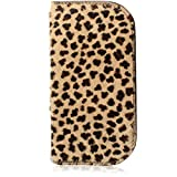 Furry Cheetah Leopard Print Genuine Leather Soft Glasses Case