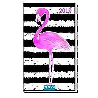 Taschenterminer 2019 Flamingo 8 x 15 cm Buchkalender Taschenkalender