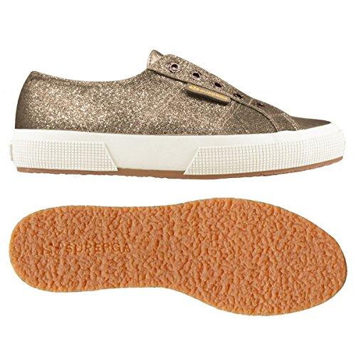 Sneaker Brown Microglittercotmetcoccow Collo 2750 Basso Bronze Superga Donna a qg1OTnnB