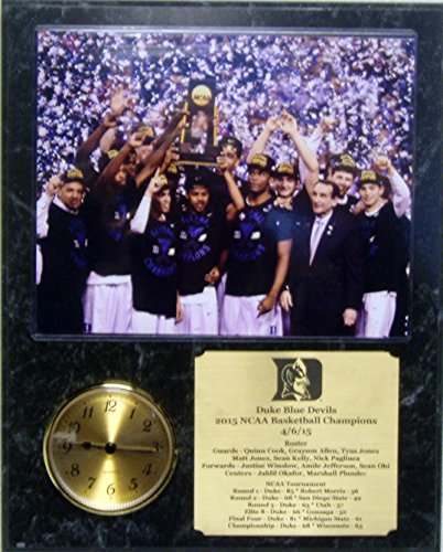 Duke Blue Devils NCAA Championship 8x10 Photo Clock Plaque With Engraved Nameplate
