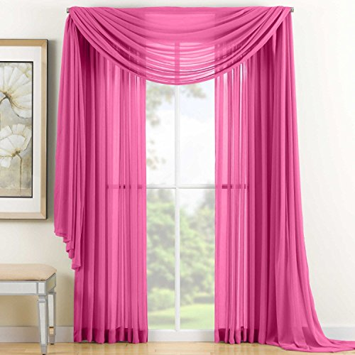 empire-home-solid-sheer-voile-scarf-valance-216-long-window-scarves-37-x-216-color-hot-pink