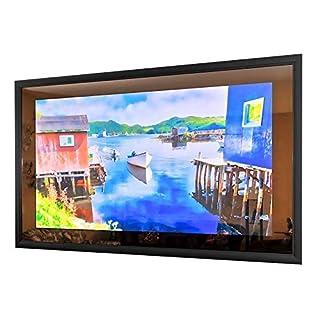 """50"""" x 30"""" Full Vanishing Framed TV Mirror with 55"""" 4K TV"""